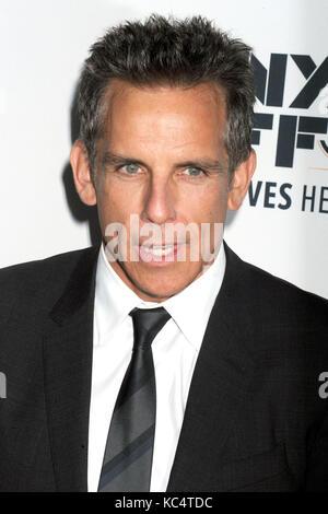 Ben Stiller besucht 'Premiere der meyerowitz Geschichten' während der 55Th New York Film Festival in der Alice Tully - Stockfoto