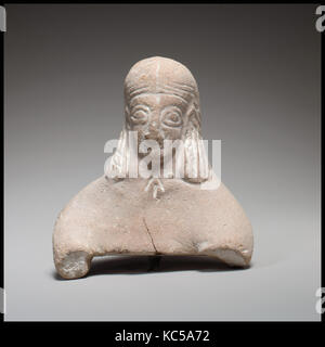 Kopf und Oberkörper einer weiblichen Figur, Ca. 600 - 480 v. Chr. - Stockfoto