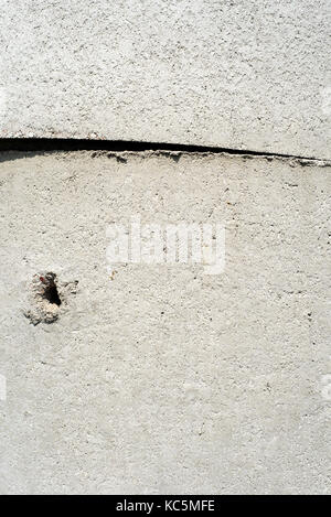Abstrakte Nahaufnahme von konkreten Schläuche für Wasser- und cess Gruben im Haus Bauwesen eingesetzt - Stockfoto
