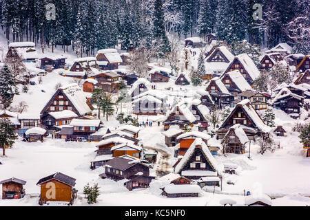 Historischen Winterdorf Shirakawago, Japan. - Stockfoto