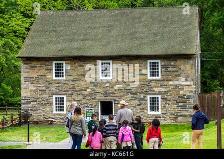 Washington DC Distrikt von Columbia Rock Creek Park Stadtpark Peirce Mühle historische Gebäude Wasser-angetriebene - Stockfoto