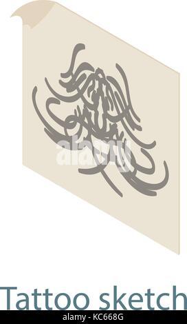 indianische totem, skizze des tattoo stockfoto, bild: 122157481 - alamy