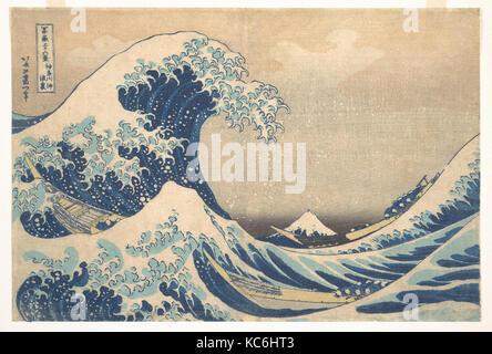 冨嶽三十六景 神奈川沖浪裏, Unter der Welle von Kanagawa (Kanagawa oki Nami ura), die auch als die große Welle bekannt - Stockfoto