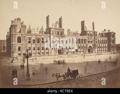 Das hötel de Ville nach der Kommune, Hippolyte-Auguste Collard, 1871 - Stockfoto