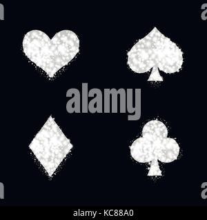 Silber Ass Spielkarte Zeichen - Stockfoto