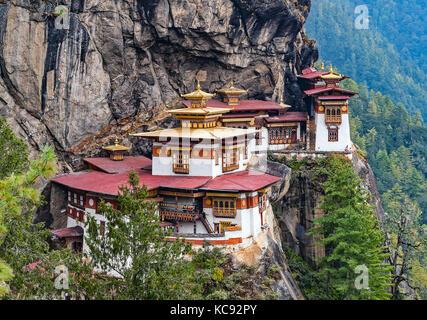 Paro Taktsang: Der Tiger Nest Kloster - Bhutan Stockfoto