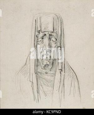 Männliche Kopf in der Kapuze, Baron Dominique Vivant Denon, Ca. 1794 - Stockfoto