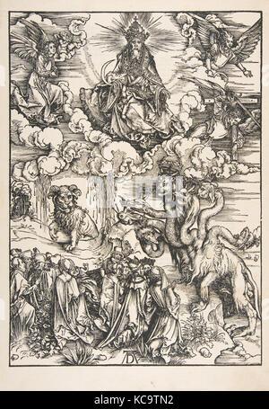 Das Tier mit zwei Hörnern wie ein Lamm aus der Apokalypse, Albrecht Dürer, N. d - Stockfoto