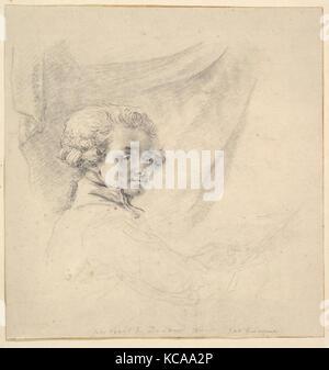 Selbstportrait als junger Mann, Baron Dominique Vivant Denon, Ca. 1780 - Stockfoto