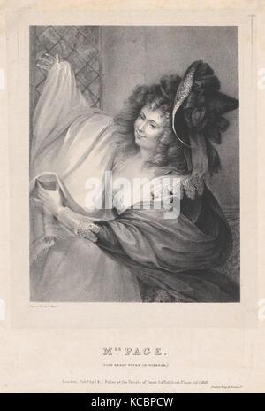 Frau Seite (Lustigen Weiber von Windsor), Louis Haghe, 5. April 1826 - Stockfoto