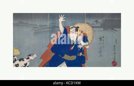 Album von Thirty-Two Triptychen von Polychrome Holzschnitte von verschiedenen Künstlern, Toyohara Kunichika, 1883 - Stockfoto