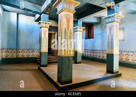 Ouarzazate, Marokko - Jan 4, 2017: Dekoration der ägyptischen Haus in Atlas Corporation Studios film Studio. Ouarzazate - Stockfoto