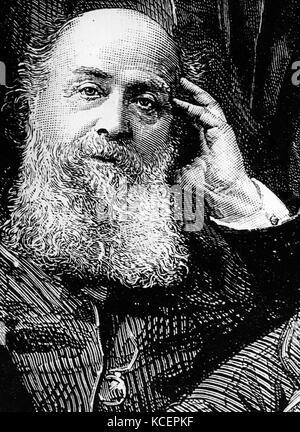 Portrait von James Joseph Sylvester (1814-1897) ein englischer Mathematiker. Vom 19. - Stockfoto