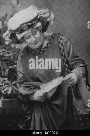 Foto von Dame alice Ellen Terry (1847-1928) eine englische Schauspielerin. Vom 19. - Stockfoto