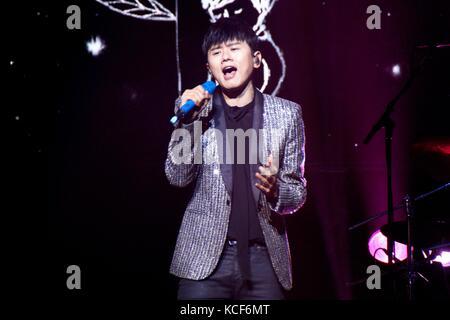 London, UK, 4. Oktober 2017. Zhang jie Konzert in der o2-indigo als Teil der Sound von meinem Herzen World Tour. - Stockfoto