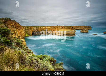 Loch Ard Gorge in Victoria, Australien, in der Nähe von Port Campbell - Stockfoto