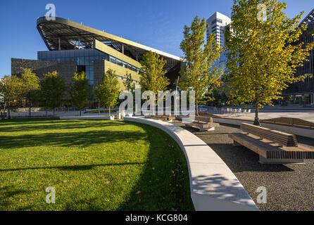 Die Cornell Tech Campus auf Roosevelt Island im Sommer. New York City - Stockfoto