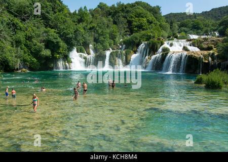Nationalpark Krka Krka Wasserstraße, Kroatien - Stockfoto