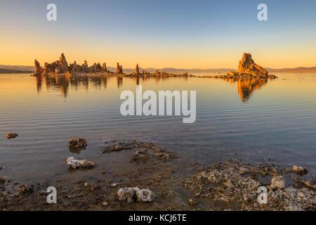 Mono Lake Sonnenuntergang - Stockfoto