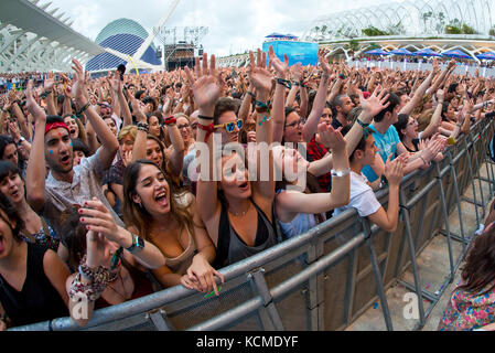 Valencia, Spanien - 11.Juni: Die Masse an Festival de les Arts am 11. Juni 2016 in Valencia, Spanien. - Stockfoto
