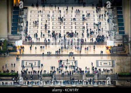 Luftaufnahme von Trocadero vom Eiffelturm - Stockfoto