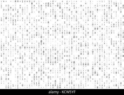 Vektor Binär Code weiß nahtlose Hintergrund. grosse Daten und Programmierung Hacking, die Entschlüsselung und Verschlüsselung, - Stockfoto