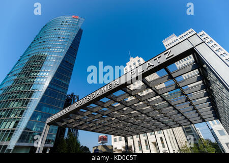 Potsdamer Platz in Berlin, Deutschland - Stockfoto