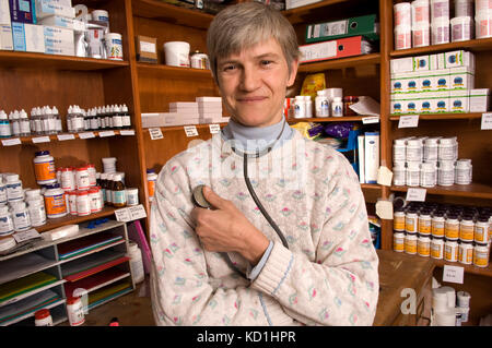 Alternative Therapie Practitioner, Dr. Sarah myhill an ihrem Haus/Praxis in Knighton, Powys, Wales. - Stockfoto