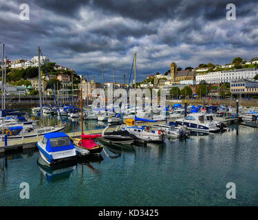 De - Devon: Torquay Harbour View - Stockfoto