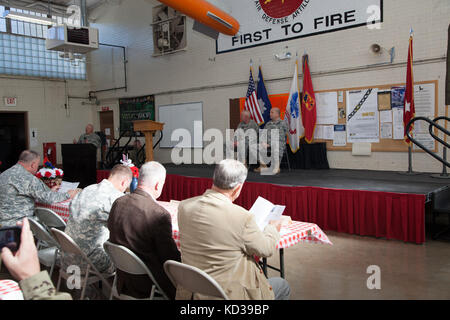 Das South Carolina National Guard gefördert Timothy j. Sheriff, stellvertretender Kommandierender General des 263Rd - Stockfoto
