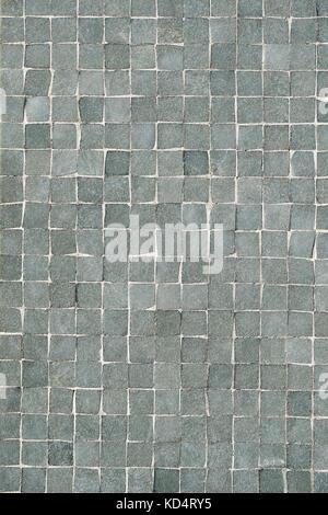 Grauen Fliesen  Mosaik Wand Hintergrund   Stockfoto