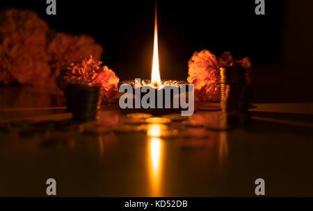 Happy diwali Wünsche und Grüße. - Stockfoto