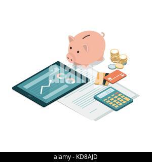 ec karten und taschenrechner stockfoto bild 29427753 alamy. Black Bedroom Furniture Sets. Home Design Ideas
