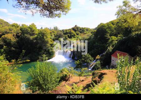 Wasserfälle von Krka Kroatien - Stockfoto