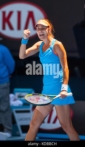 Ana Ivanovic konkurriert bei den Australian Open die Australian Open - ein Grand Slam Turnier - ist die Auftaktveranstaltung - Stockfoto