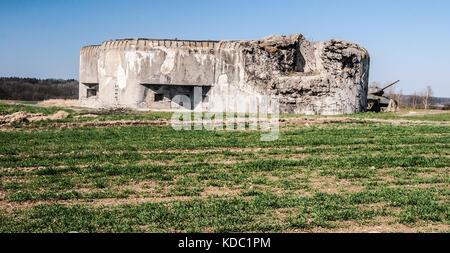 """Mo-s-20 """"Orel"""" Festung in der Nähe von hlucin Stadt in der Tschechischen Republik vor dem Zweiten Weltkrieg czechoclovakia gegen Nazi-Deutschland zu schützen gebaut"""