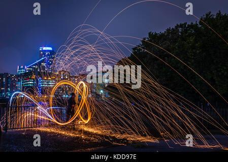 Stahl Wolle spinnen - Stockfoto