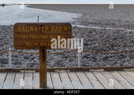 Badwater Basin, Death Valley - Stockfoto