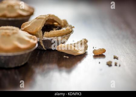 Weihnachten Mince Pie close-up mit Kopie Raum - Stockfoto
