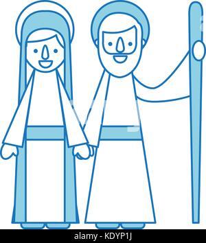 eine krippe weihnachten abbildung der jungfrau maria und josef mit esel in silhouette auf ihrer