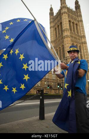 Anti-brexit Mahnwache außerhalb des Houses of Parliament, London, England, Vereinigtes Königreich - Stockfoto