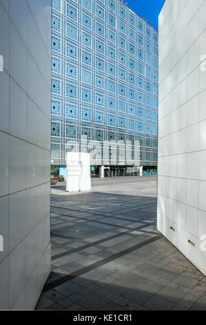 Arabische Welt Institut, Glasfassade, Paris, Frankreich - Stockfoto