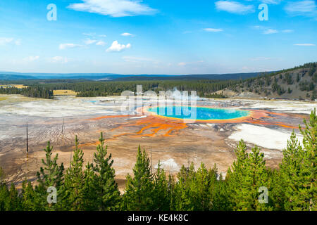 USA Yellowstone mitgliedstats Park, Grand Prismatic Spring - Stockfoto