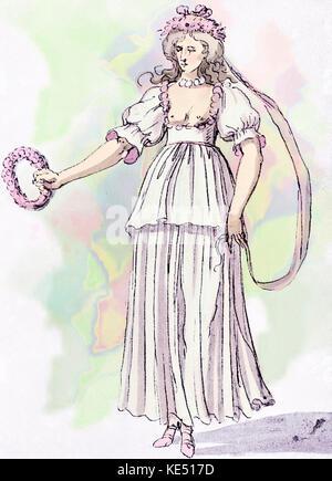 """Inigo Jones die Kostüme für die 'Spring' in Ben Jonson Masque"""" Chloridia: Riten zu Chloris und Ihre Nymphen'. Durchgeführt - Stockfoto"""
