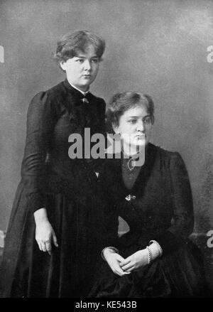 Marie Curie (manya Sklodovska) mit Schwester Bronya Sklodovska, 1886. MC: in Polen geborenen französischen Physiker - Stockfoto