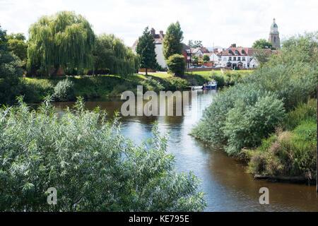 Der Fluss Severn am Upton auf Severn, Worcestershire, England - Stockfoto