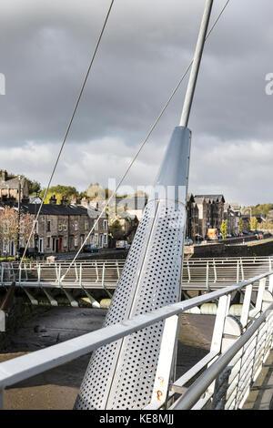 Lune Millennium Bridge, Lancaster - Stockfoto