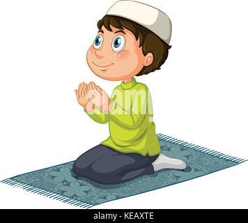 Muslimisches beten - Stockfoto