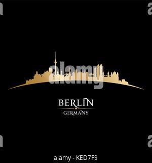 Berlin Deutschland Skyline der Stadt Silhouette. Vector Illustration - Stockfoto