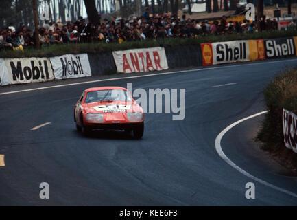 Austin Healey Sprite, Bäcker - Hecken, 1967 Le Mans - Stockfoto